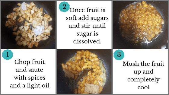 Fruit Prep Apple Turmeric Spice Energy Balls