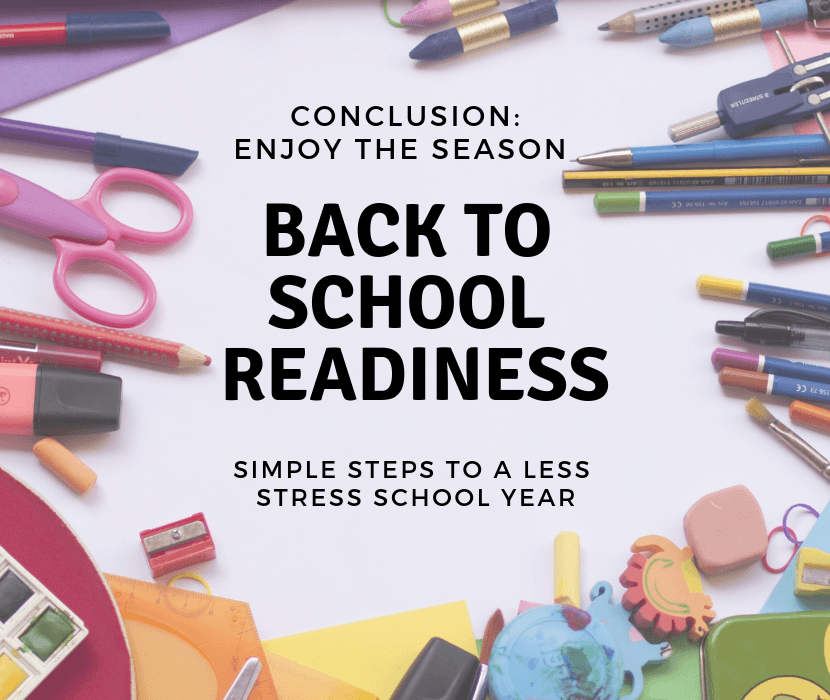 Back to School Readiness Conclusion Welcome to School