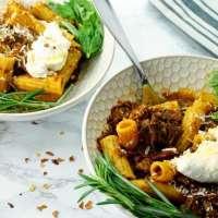Instant Pot Cabernet-Braised Pot Roast Rigatoni