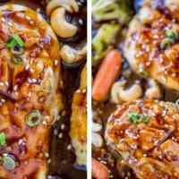 Sheet Pan Cashew Chicken and Vegetables - Dinner, then Dessert