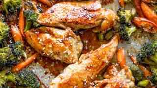 Sheet Pan Korean Chicken and Vegetables