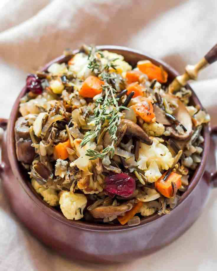 Gluten Free Stuffing Recipe - Breadless, Vegetarian/Vegan » LeelaLicious