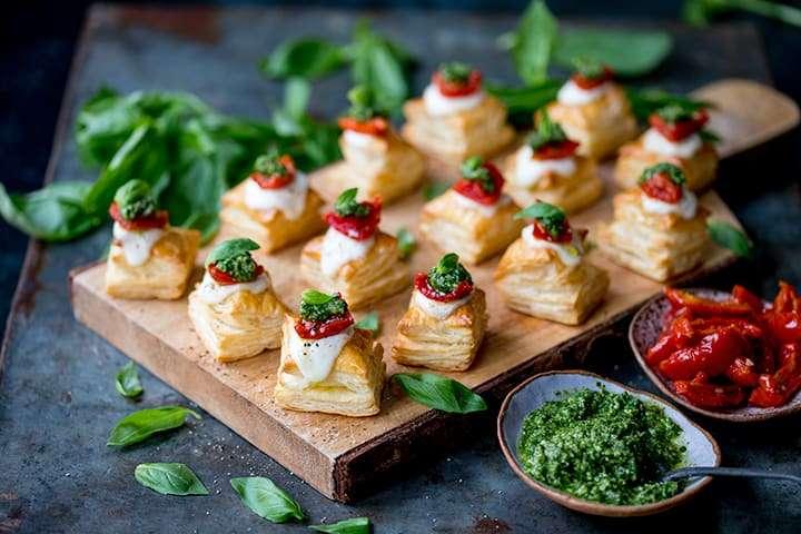 Caprese Pastry Bites