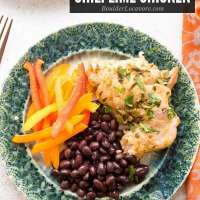 Sweet and spicy Instant Pot Chili Lime Chicken cooks in 10 minutes!