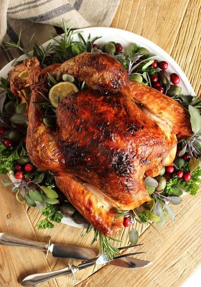 Citrus and Herb Butter Roast Turkey Recipe