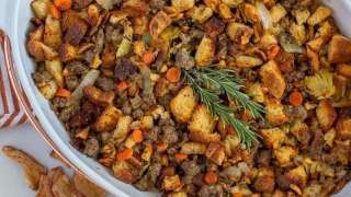 Sausage Apple Stuffing (Gluten-Free)