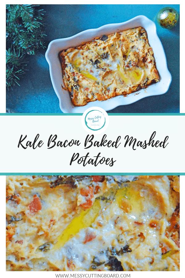 Pinnable image Baked Mashed Potatoes