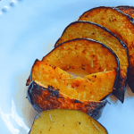 Rosemary Thyme Acorn Squash Slices