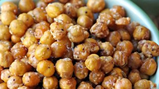 Spicy Roasted Chickpeas Snack Recipe with Rosemary and Garlic