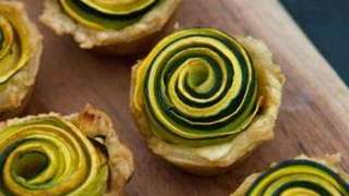 Beautiful Vegan Squash Rosettes