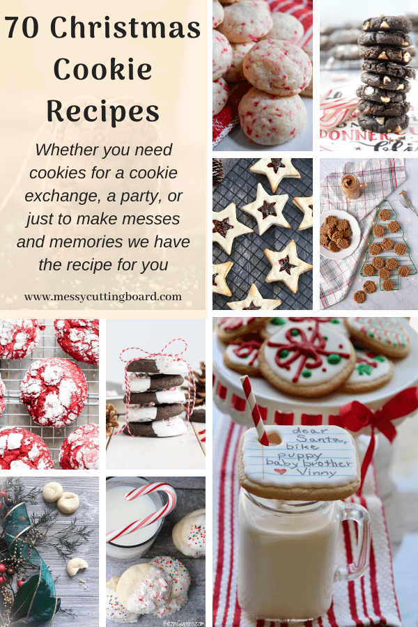 Pinnable image  for 70 Christmas Cookie Recipes
