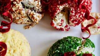 Festive Holiday Cheese Balls (Four Flavors) | Delicious Table