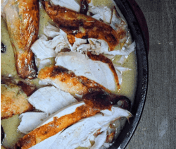 Recipe Photo for Honey Apple Roasted Chicken