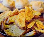 Bowl full of Garlic Parmesan Potatoes
