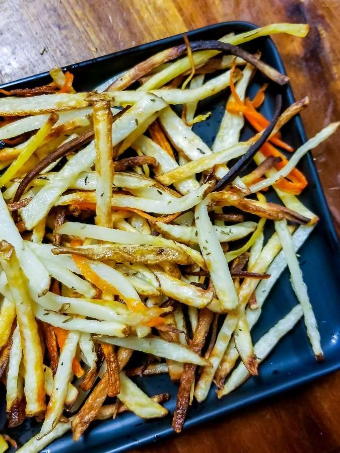 Fries ready to serve and eat!