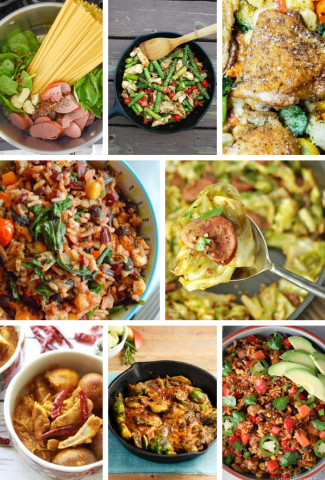 Sneak Peak at what is inside the SIMPLE COOKING ONE-POT WONDERS TO MAKE YOUR WEEKNIGHTS EASIER Recipe collection