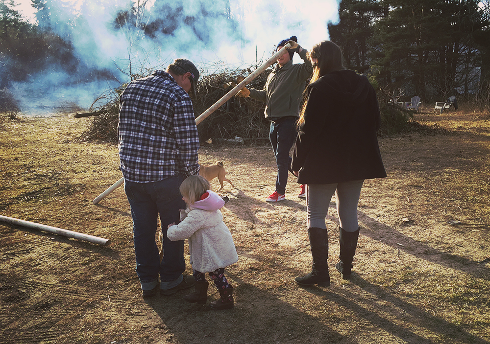 Inn The North | Innkeeping Blog | Burning the Brush Pile