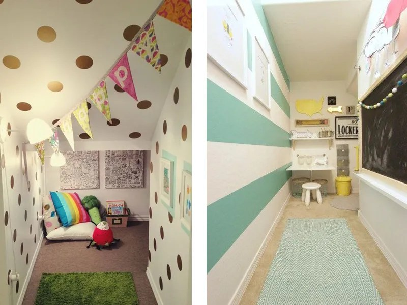 Under the stairs closet idea - kids reading area or play nook
