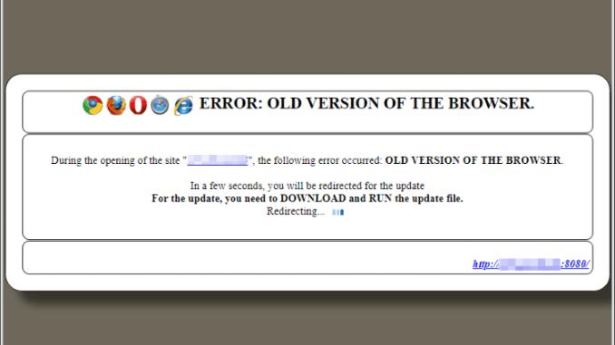 Atualização falsa para navegadores é usada para atacar