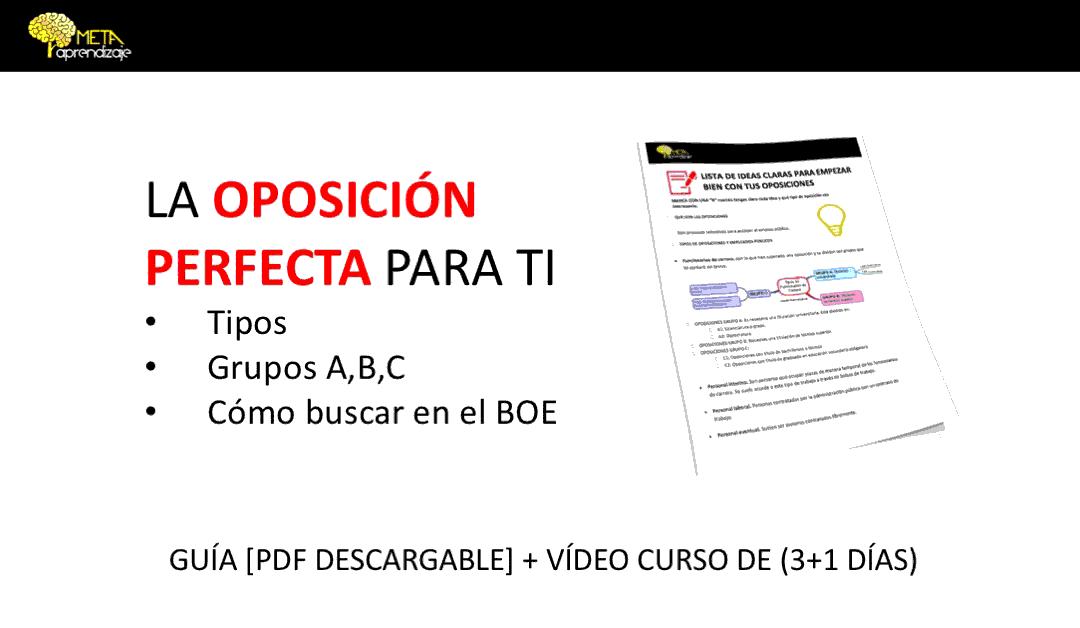 OPOSICIONES Y EMPLEOS PÚBLICOS