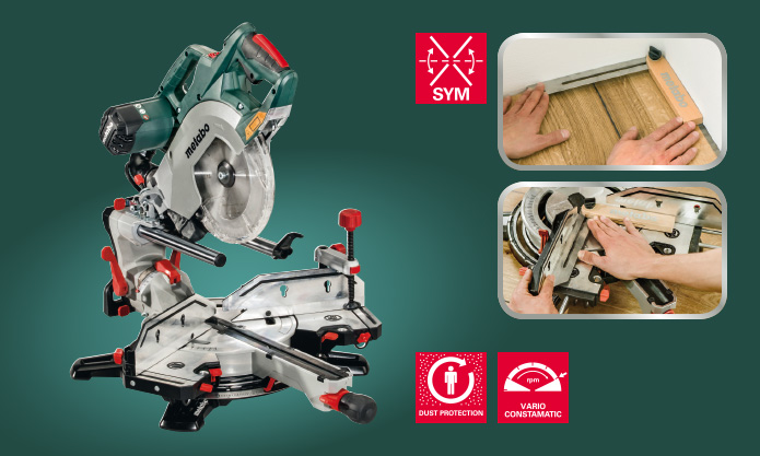 KGSV 72 XACT SYM: Combination of Compact Panel Saw & Precision Skirting Saw 1