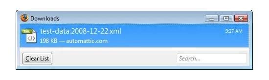 Téléchargez le fichier XML.