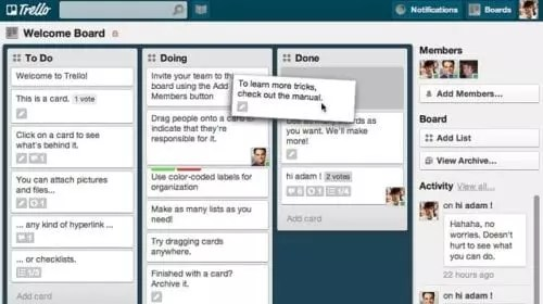 Outils de marketing Mobile Trello