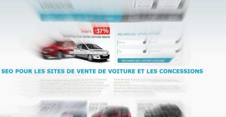 SEO pour les sites de vente de voiture et les concessions