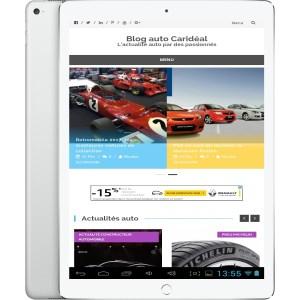 Création de site internet automobile pour concession digitale responsive pour tablette
