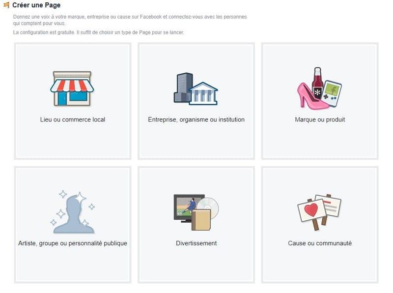 Créer un exemple de page d'entreprise
