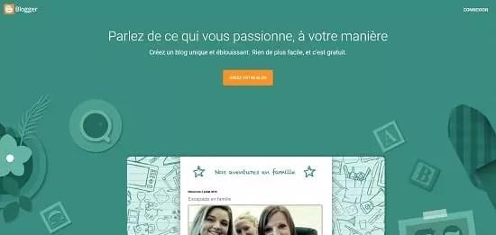 Plateforme de blog en ligne gratuit Blogger