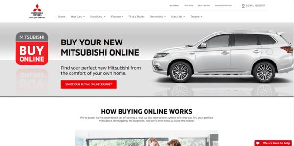 Mitsubishi buy online le constructeur vend des voitures sur internet au Royaume-uni