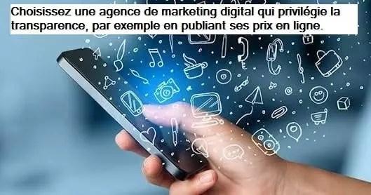 La transparence est une caractéristique commune aux meilleures agences de marketing digital.