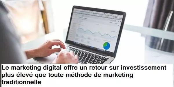 Le retour sur investissement du marketing digital par rapport au marketing traditionnel