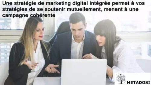 Une déclaration sur l'intégration du marketing digital, une tendance du marketing digitale en 2019