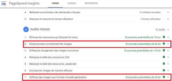 Outil de compression d'image PageSpeed Insights