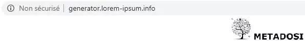 Un exemple de site Web non sécurisé