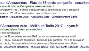 Exemple d'annonce textuelle étendue Google