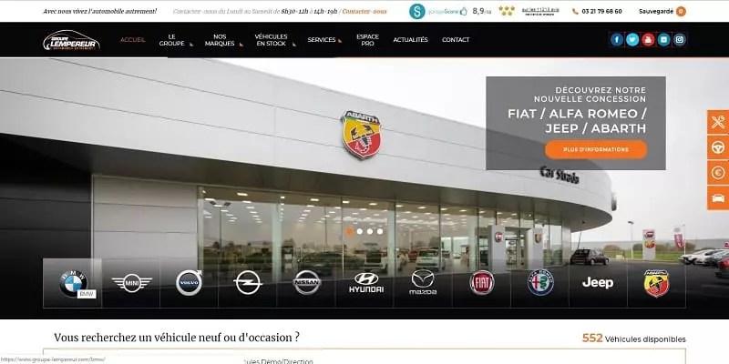 Site internet automobile du groupe Lempereur