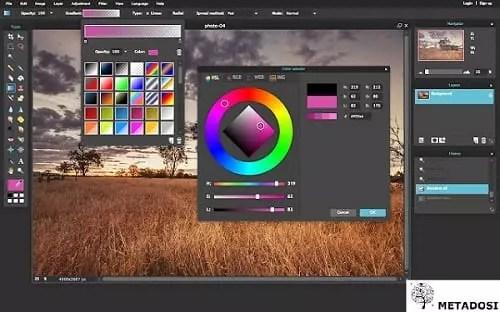 Une capture d'écran de Pixlr, une solution de marketing digital