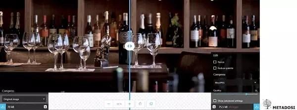Une capture d'écran de Squoosh, une solution de marketing digital
