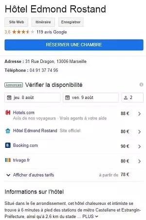 Hôtel Edmond Rostand Google My Business