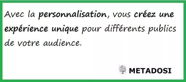 La personnalisation est un buzzword marketing