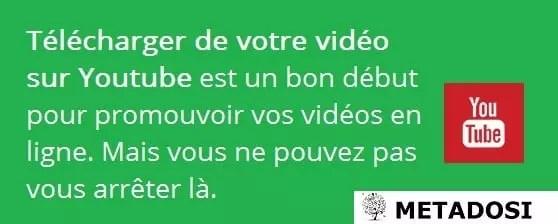 N'oubliez pas vos vidéos après les avoir mise en ligne