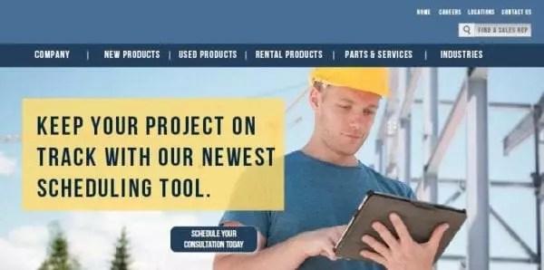 Exemple de site Web utilisant le ciblage par entreprise