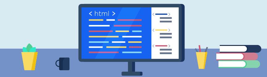 code html sur un écran d'ordinateur