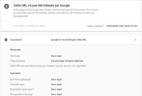 Page inconnue dans Google