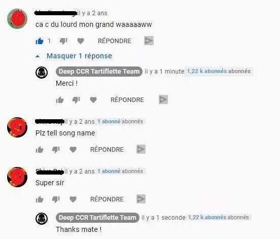 Un groupe de plongeurs répondant aux commentaires sur l'une de ses vidéos
