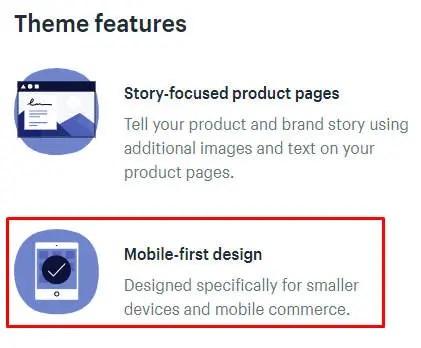 conception de shopify adaptée aux mobiles
