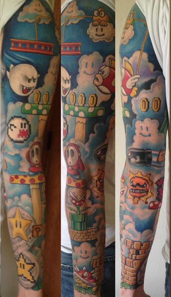 top 10 tatuagens de super mario